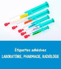 étiquettes adhésives pour laboratoire, pharmacie, radiologie -Etik Ouest médical