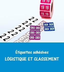 étiquettes adhésives pour la logistique et le classement-Etik Ouest médical