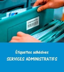 étiquettes adhésives pour les services administratifs Ouest médical