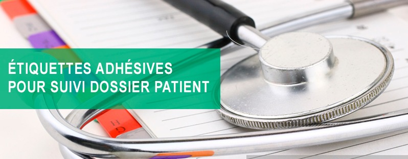 etiquettes adhésives pour suivi dossier patient, etik ouest medical