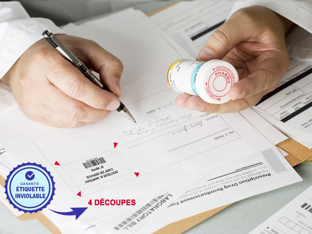 étiquettes adhésives RPPS Etik Ouest Medical