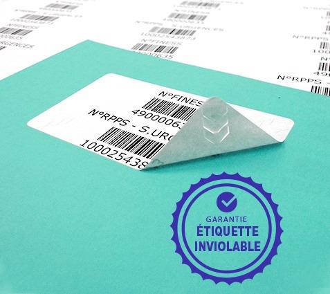 planches étiquettes RPPS Etik Ouest Medical