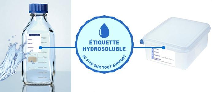 étiquettes adhésives hydrosolubles Etik Ouest Medical