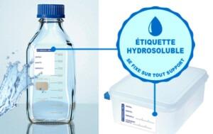 étiquettes solubles, étiquettes hydrosolubles, Etik Ouest Medical